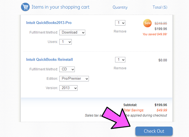 QuickBooks Pro Coupon Code Example 4