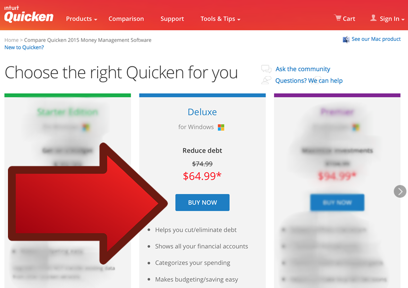 Quicken Deluxe 2016 - Example 2