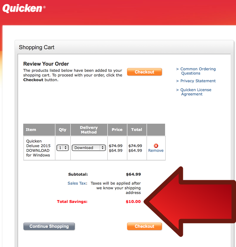 Quicken Deluxe 2016 - Example 3