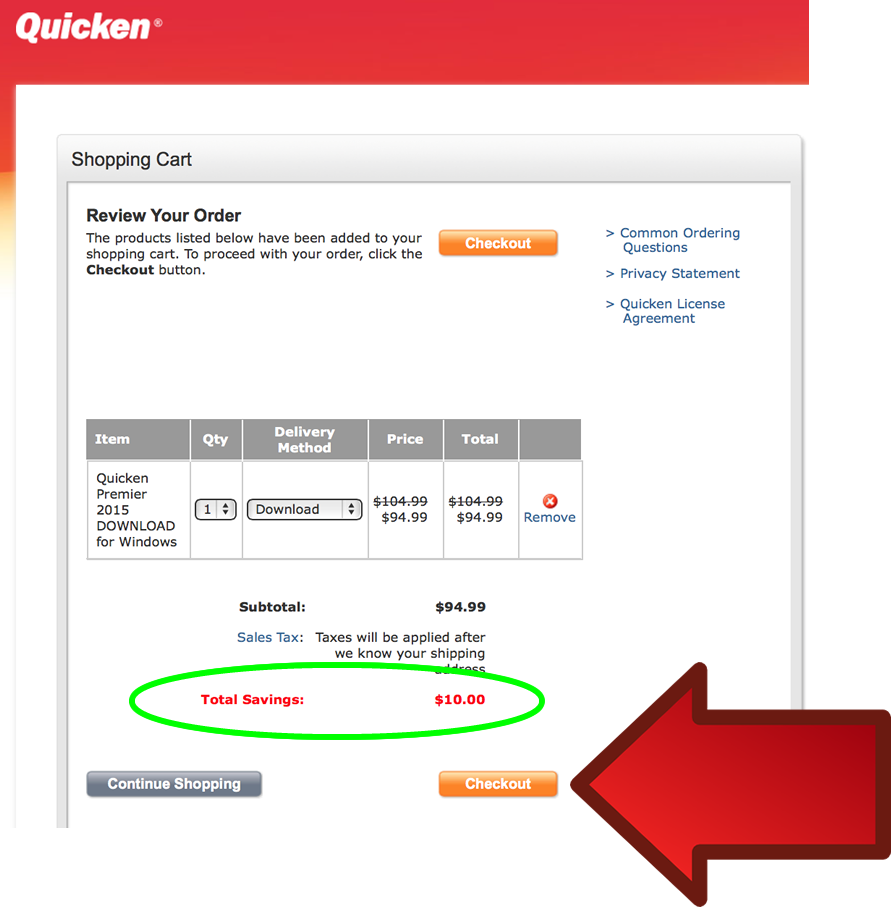 Quicken Premier 2016 - Example 3