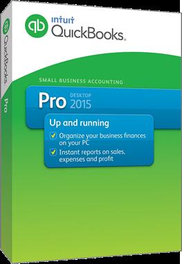 intuit quickbooks pro 2015 box