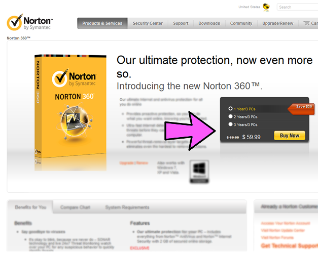 Norton discount coupons