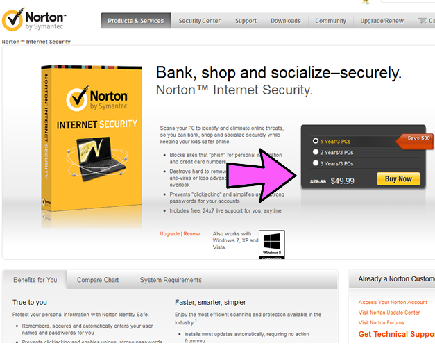 norton internet security coupon example 2