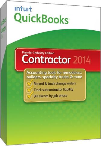 quickbooks contractor 2014 box