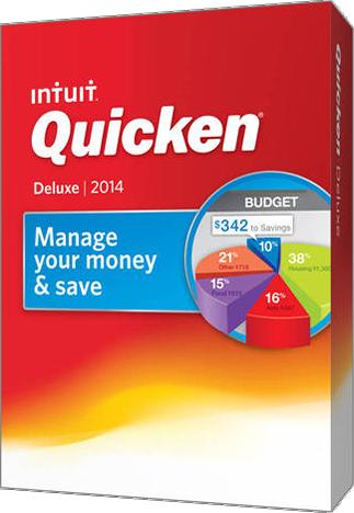 quicken deluxe 2014 box