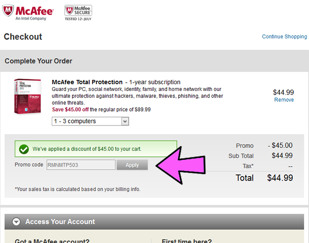 Coupon for mcafee antivirus