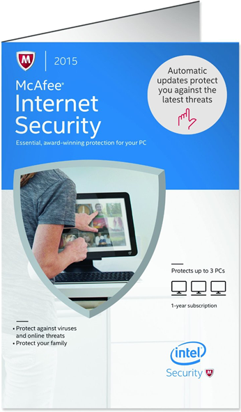 mcafee internet security 2015 box