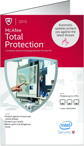 mcafee total protection 2015 box