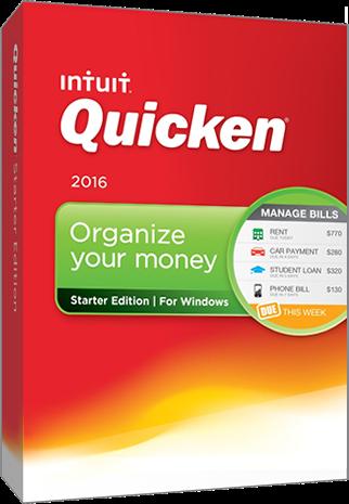 quicken starter 2016 box
