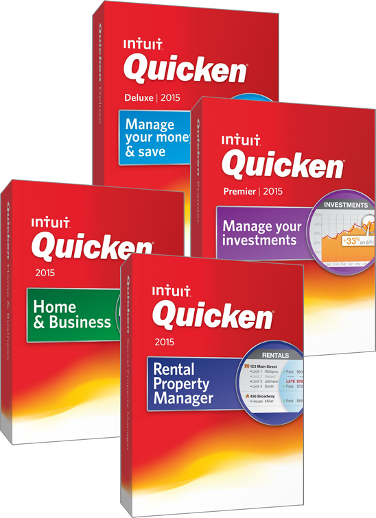 Quicken 2015 boxes