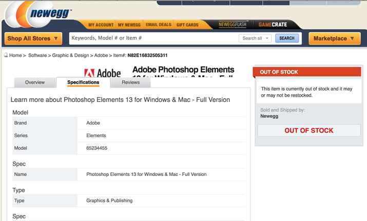photoshop elements 13 newegg 1