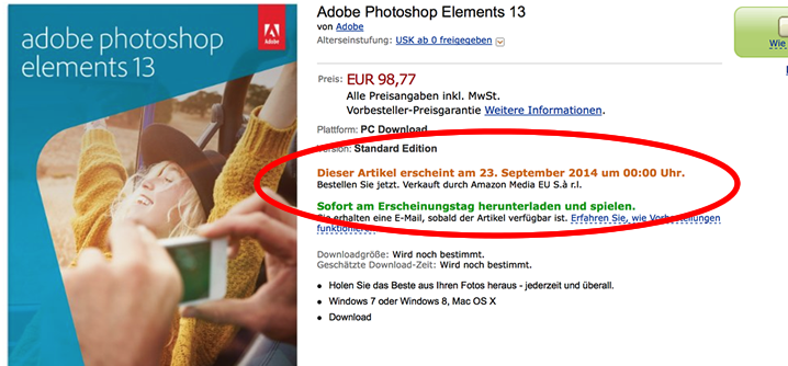 photoshop elements 13 release date proof amazon de