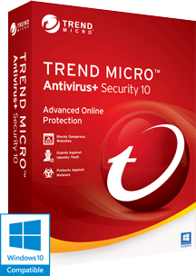 Trend Micro Antivirus Security 10 2016 Box