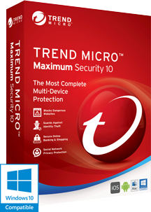 Trend Micro Maximum Security 10 2016 Box