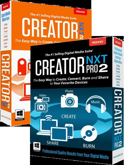 roxio creator nxt 2 boxes