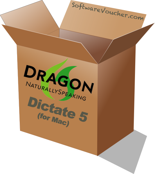 dragon dictate 5 for mac box