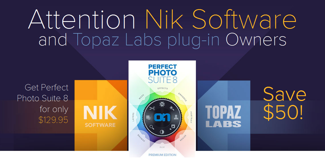 onone software nik topaz labs offer