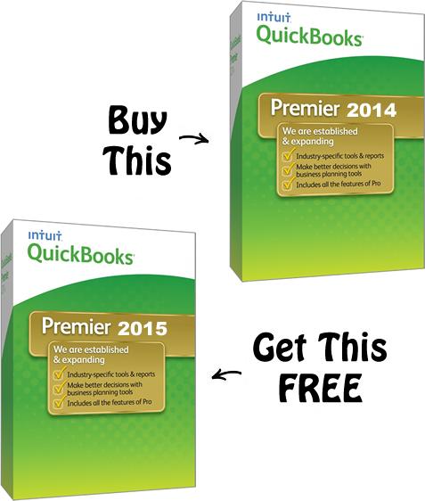 buy quickbooks 2014 get 2015 free