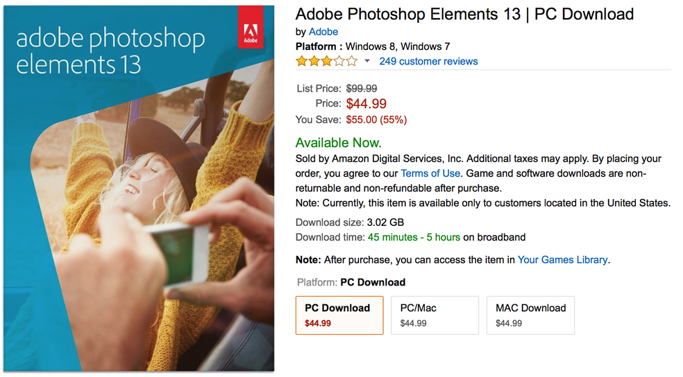 deal of the day photoshop elements 13