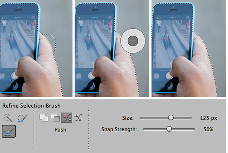 photoshop elements 13 refine selection tool