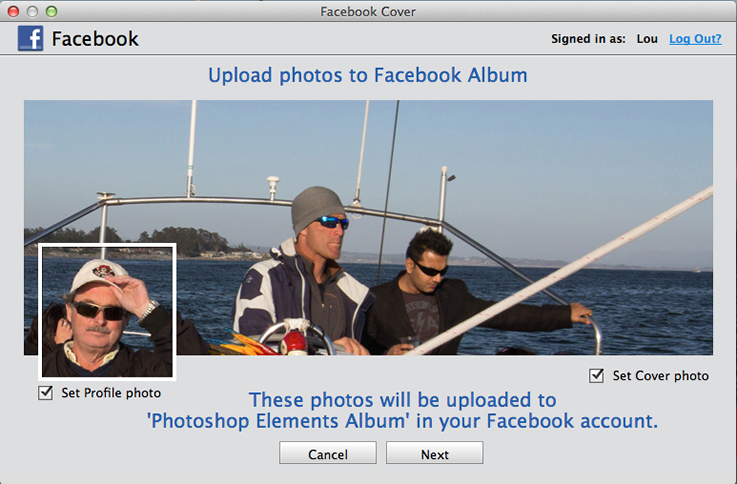 photoshop elements 13 upload to facebook