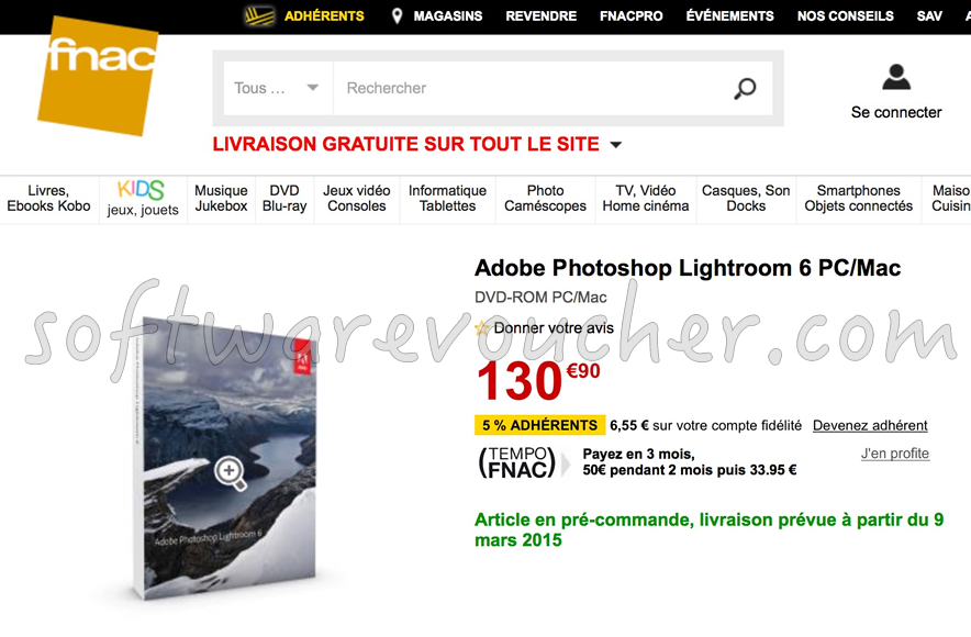lighroom 6 on fnac