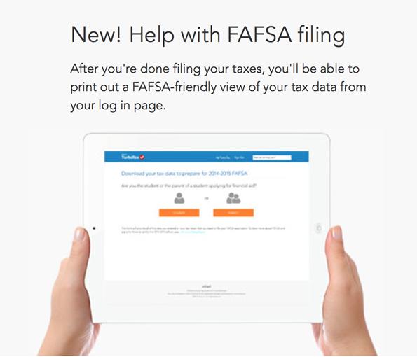 turbotax student fafsa help