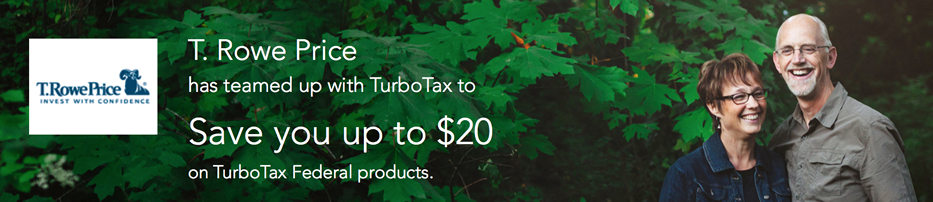 t rowe price turbotax discount for customers in 2015. Black Bedroom Furniture Sets. Home Design Ideas