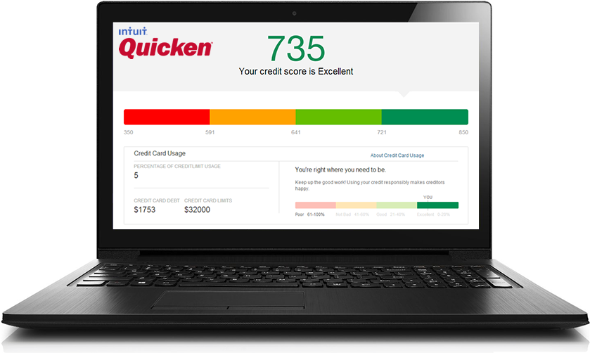 quicken free credit report