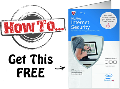 McAfee Internet Security free for military