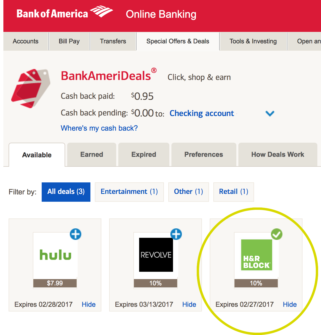 bank of america turbotax discount 2017 - example 3